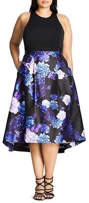 City Chic Midnight High/Low Midi Dress $149 thestylecure.com