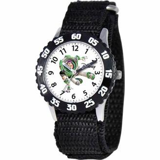 Disney Toy Story Buzz Lightyear Boys' Stainless Steel Watch, Black Strap