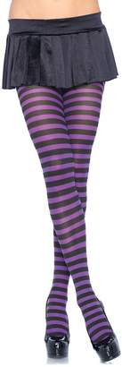 Leg Avenue Women's Plus-Size Nylon Striped Tights