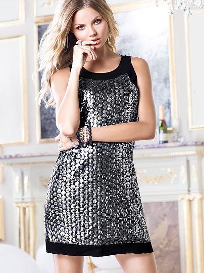 Victoria's Secret Sequin Shift Dress