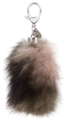 Rebecca Minkoff Fox Fur Keychain