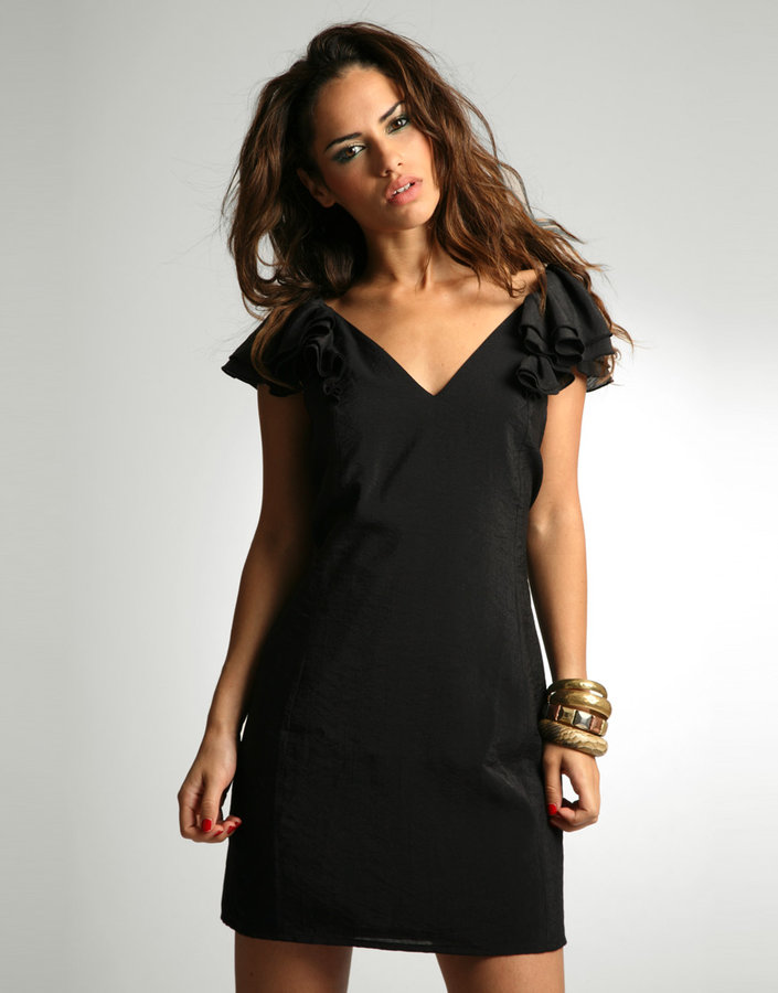 ASOS V-Back Frill Sleeve Dress