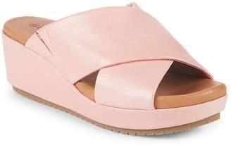 Gentle Souls Women's Mikenzie Wedge Leather Sandals