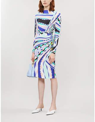 Emilio Pucci Signature-print stretch-jersey bodycon midi dress
