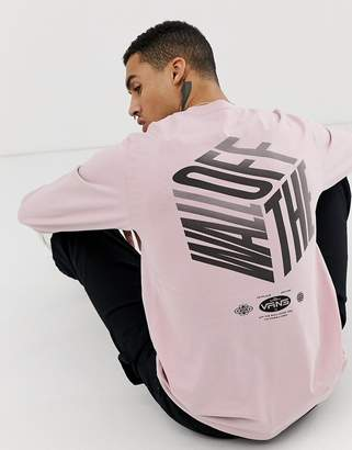 Vans long sleeve top with back print in pink VN0A3W54UOF1