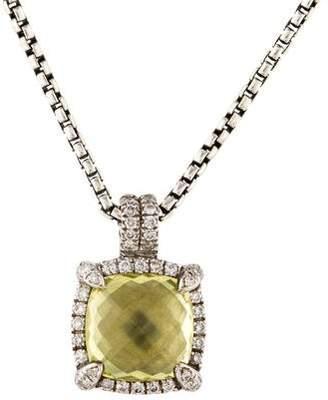 David Yurman Quartz & Diamond Châtelaine Pendant Necklace