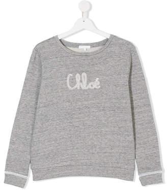 Chloé Kids logo print sweater