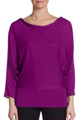 Natori Cutout-Back Sweater