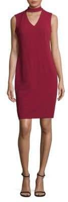 Calvin Klein Crepe Choker Dress