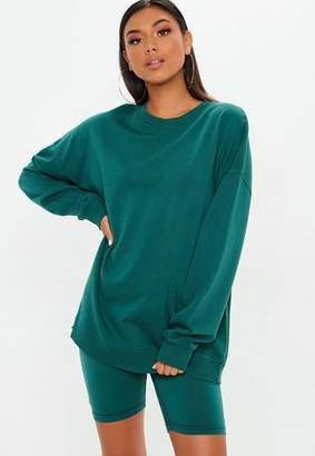Missguided Teal Long Sleeved Sweat