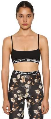 Off-White Logo Printed Ribbed Bralette