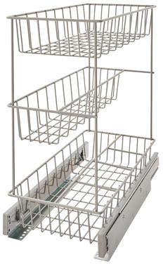 ClosetMaid 3 Tier Compact Kitchen Cabinet Pull Out Drawer