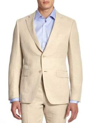 Saks Fifth Avenue COLLECTION BY SAMUELSOHN Classic-Fit Linen& Silk Sportcoat
