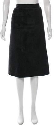 Ter Et Bantine Faux Ponyhair Midi Skirt