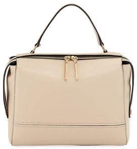 Milly Astor Large Leather Satchel Bag