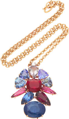 Irene Neuwirth One-Of-A-Kind 18K Gold Tanzanite And Sapphire Necklace