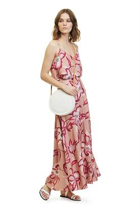 Country Road Hibiscus Print Maxi Skirt