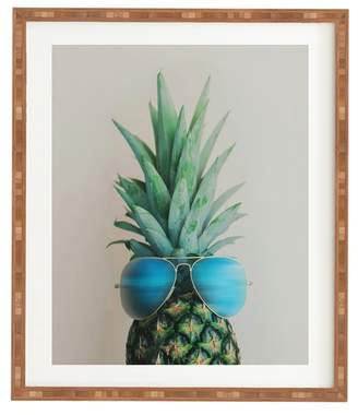 Deny Designs Chelsea Victoria Pineapple in Paradise Framed Wall Art