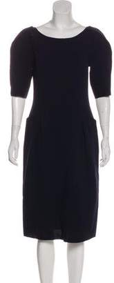 Nina Ricci Virgin Wool Sheath Dress