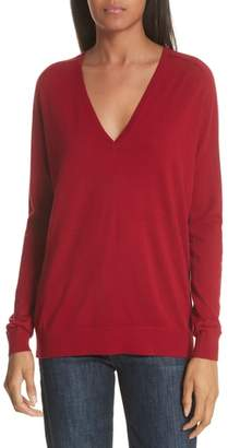 Theory Adrianna Wool V-Neck Sweater