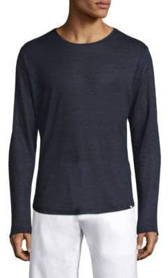 Orlebar Brown Minimalistic Long Sleeve Linen Shirt