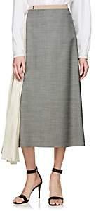 Prada Women's Contrast Godet Skirt - Gray