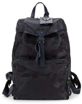 Valentino Camouflage-Print Backpack