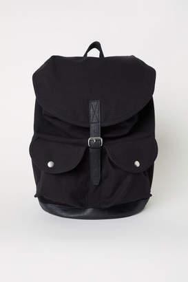 H&M Cotton Canvas Backpack - Black