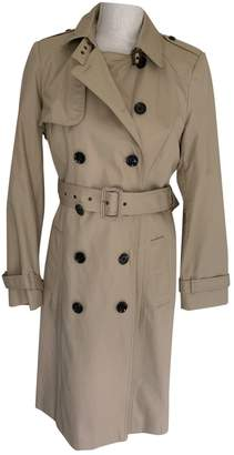 No Name Beige Cotton Trench Coat for Women