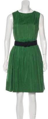 Robert Rodriguez Pleated Knee-Length Dress