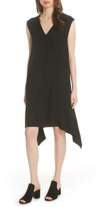 Eileen Fisher Cutout Jersey Shift Dress