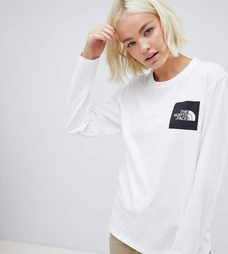 The North Face Long Sleeve Fine T-Shirt in White
