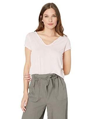 William Rast Women's Cooper Henley Short Sleeve Tee Shirt