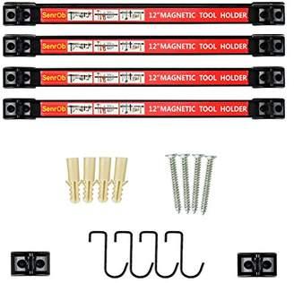 "Senrob 4 PCS 12"" Magnetic Tool Holder Bar Racks"