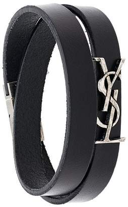 Saint Laurent logo wrap bracelet