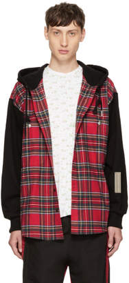 99% Is Red and Black Check Hoodie