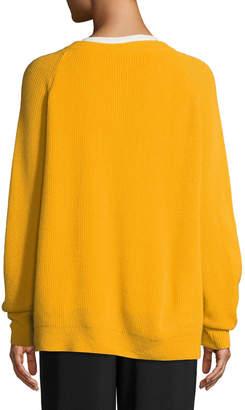 Cinq à Sept Tous Les Jours Neely Long-Sleeve Split-Hem Cashmere Sweater