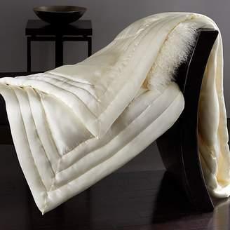 Donna Karan Silk Quilted Throw