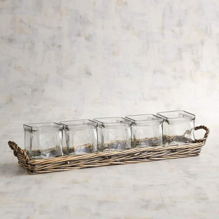 Wicker Multiple Tealight Candle Holder