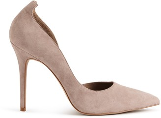 Reiss ALBERTA SUEDE COURT SHOES Nude