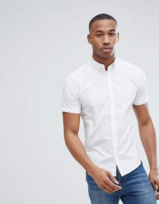 ONLY & SONS Short Sleeve Slim Fit Stretch Cotton Shirt