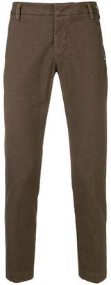 Entre Amis micro check slim fit trousers