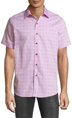 Robert Graham Short Sleeve Printed Cotton Shirt