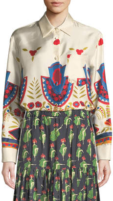 Double J Messico New Boy Print Button-Front Shirt