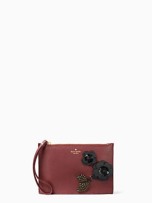Kate Spade On purpose embellished mini leather wristlet