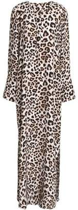 Equipment Leopard-Print Silk Maxi Dress
