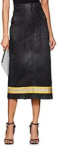 Calvin Klein Women's Twill Cargo Skirt-Black