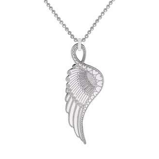 CarterGore - Silver Wing Pendant Necklace