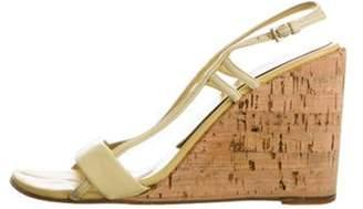 Prada Slingback Wedge Sandals Yellow Slingback Wedge Sandals