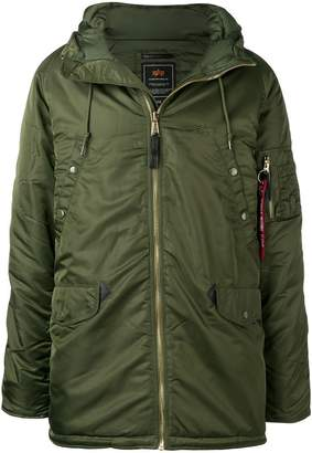 Alpha Industries front zip hooded coat
